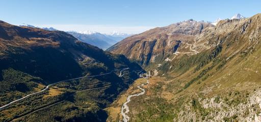 Swiss Alps, View of Grimsel pass