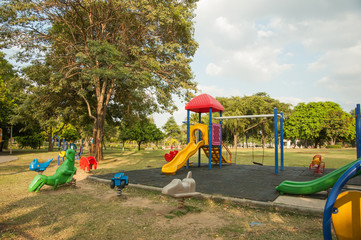 Outdoor playground in the village