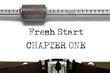 Typewriter Fresh Start