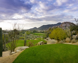Fototapety Desert golf course Scottsdale,Az,USA