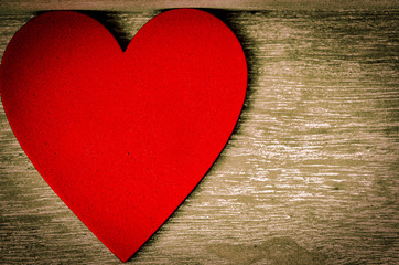 Rotes Herz zum Valentinstag, Muttertag