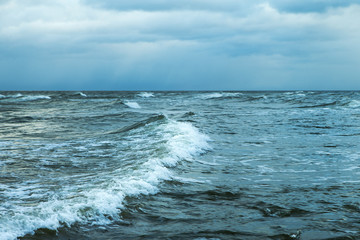 Windy day in Baltic sea.