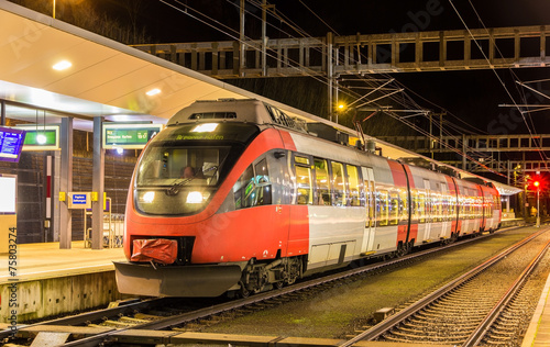 Austrian local train at Feldkirch station - 75803274