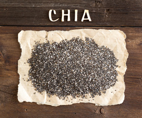 Chia seeds with a word CHIA