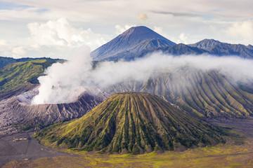 Mount bromo  batok semeru volcano, java indonesia. Mount bromo