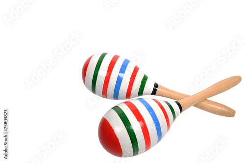 Color lining painting on double Maracas. - 75803823