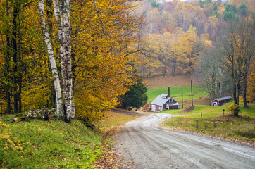 Indian Summer, New England, Maple sugar house, Reading,