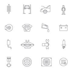 Auto Service Outline Icon