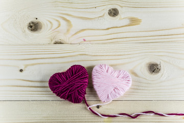 heart of woolen thread