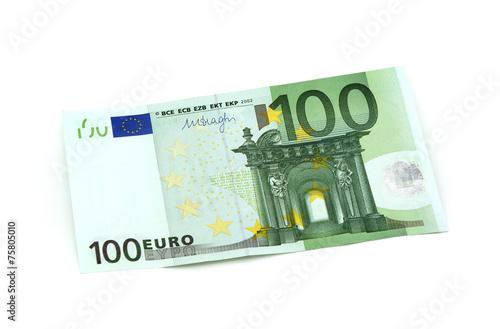 Leinwanddruck Bild 100 Euro Vorderseite