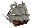 HMS Victory ship - 3D render - 75805218