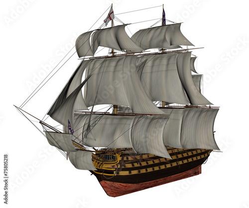 HMS Victory ship - 3D render - 75805218