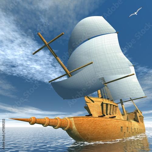 Fototapeta Old ship - 3D render