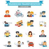 Fototapety Passenger Transportation Icon Flat