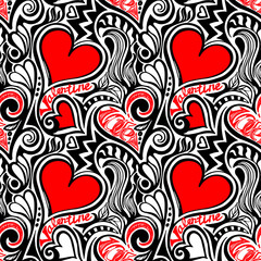 Love Valentine seamless pattern