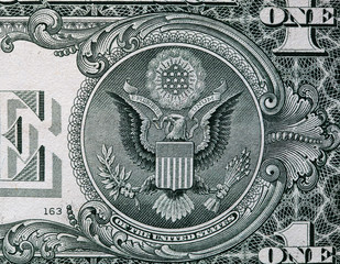 The Seal of The United States on the reverse side of one dollar