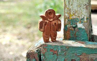 wooden figurine man