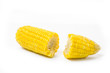 Boiled corn isolated on white
