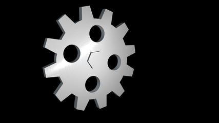 3D gear rotating alpha loop