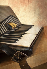 Old accordion instrument
