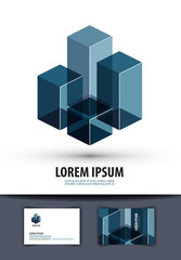 business. logo, sign, icon, emblem, template, business card
