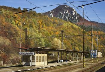 Railway station in Kralovany. Slovakia