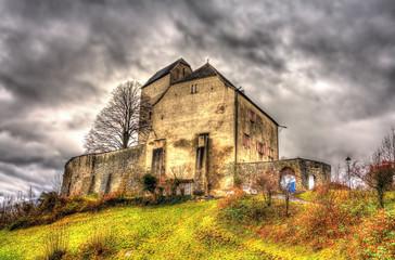 View of Sargans Castle in Switzerland