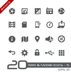 Web & Mobile Icons-5 -- Basics