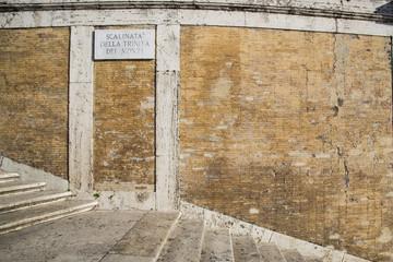 Targa e scalinata di Trinità dei Monti - Roma