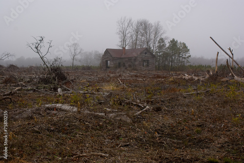Tuinposter Rudnes Abandoned Schoolhouse