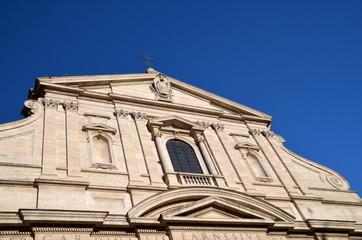 Chiesa del Gesu is the first truly baroque facade in Rome