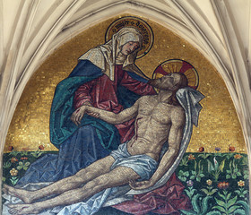 Pieta, Maria am Gestade church in Vienna, Austria