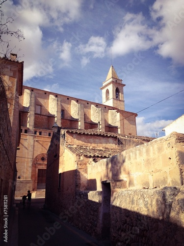 canvas print picture Kirche Sant Andreu in Santanyi