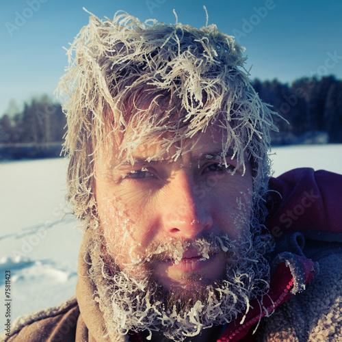 canvas print picture Frozen Man