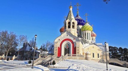 Church in Peredelkino in the Moscow region