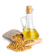 Soybean oil in a bottle.