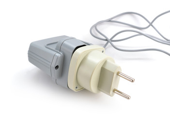 Travel adapter isolated