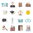 Law Icon Flat - 75813208