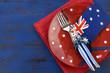 Happy Australia Day theme table setting - 75813234