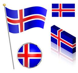 Icelandic Flag Set