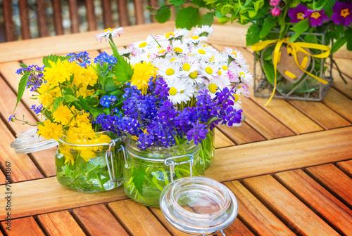 canvas print picture Blumen, Tischschmuck, Ostern
