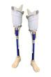 prosthetic leg on the white background
