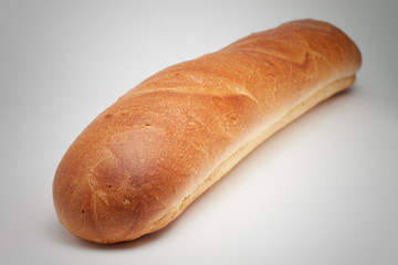 loaf of bread on the grey background