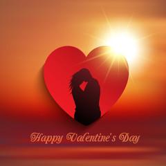 Valentine's Day couple background