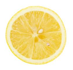 half of lemon isolated on the white background