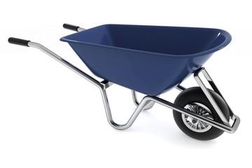 Garden wheelbarrow isolated on white