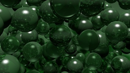 balls bubbles green
