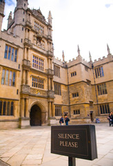 main courtyard at Bodleian Library, Oxford, UK