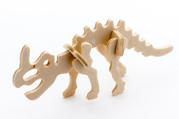 Dinosaurs of wood