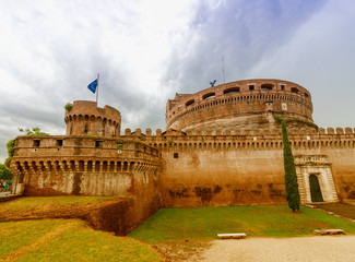 Saint Angel Castle in Rome, Italy